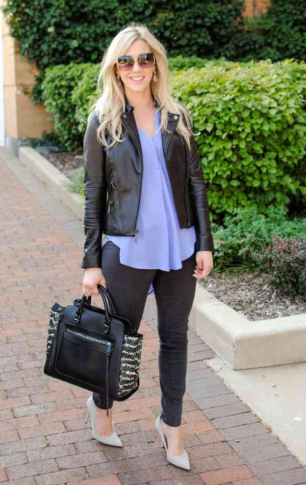 BCBG leather jacket