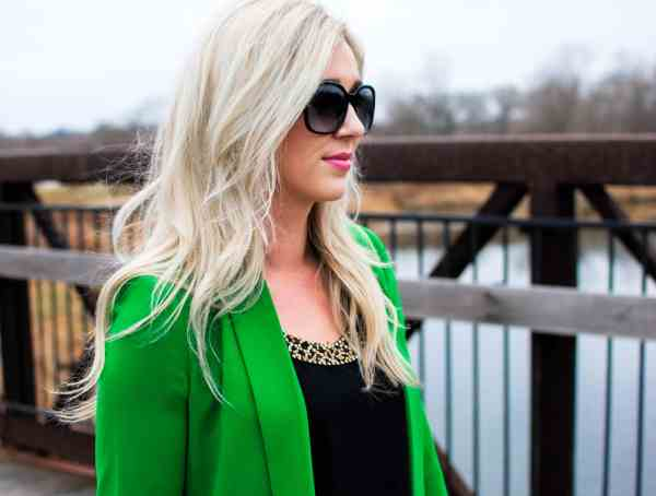 rachel barkules green blazer