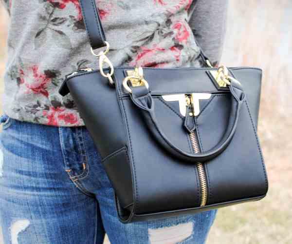 danielle nicole black handbag