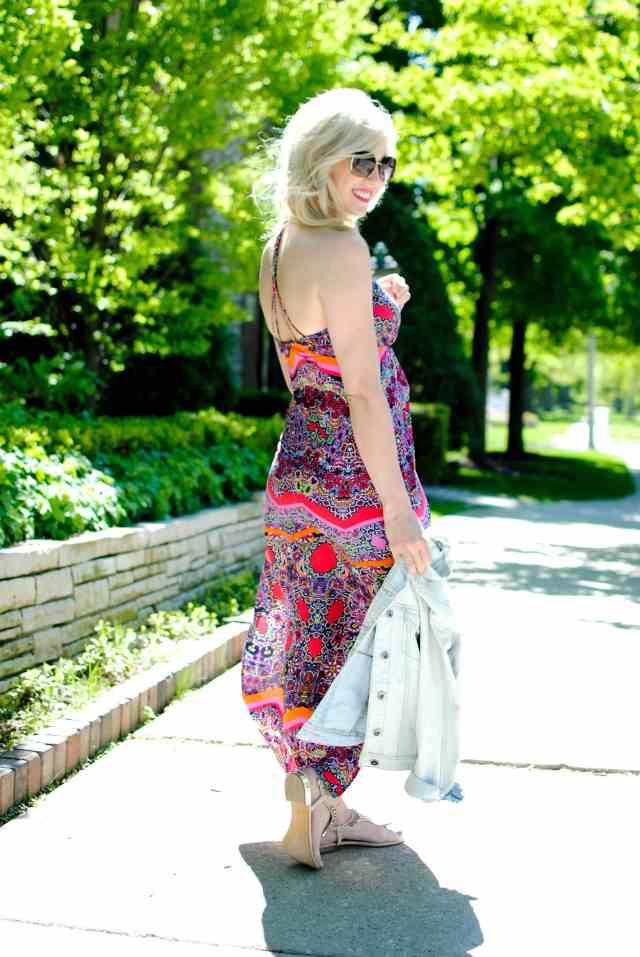 Laundry by Shelli Segal Print Twill Maxi Dress barberry multi