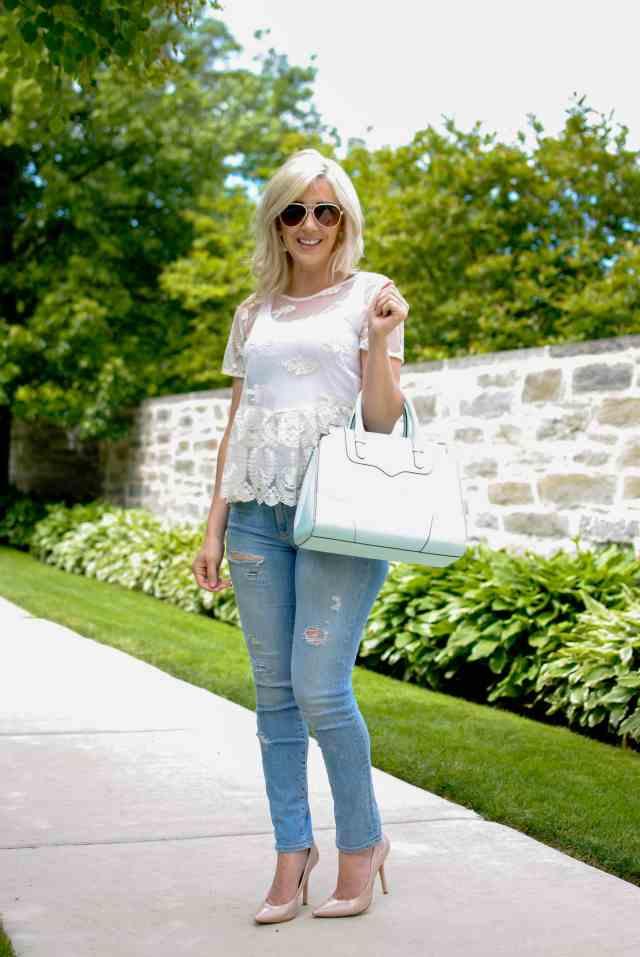 cream lace top