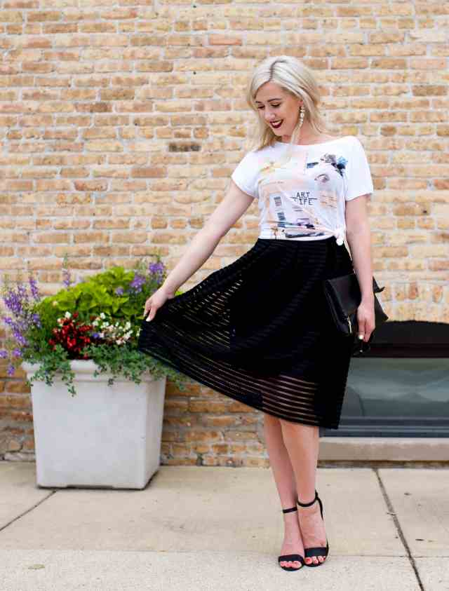 cut out midi skirt