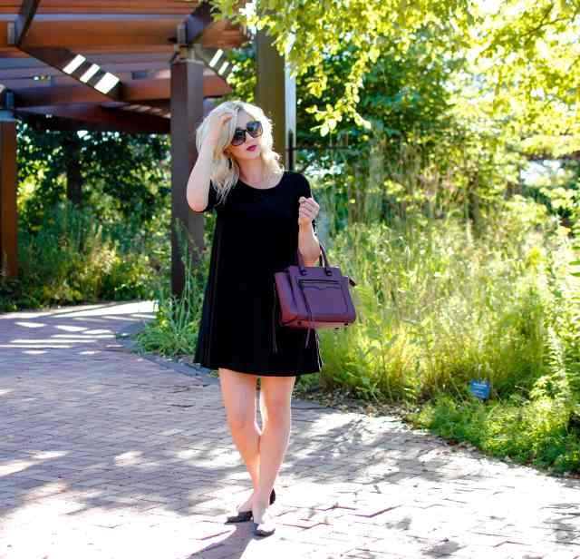 leith trapeze dress black