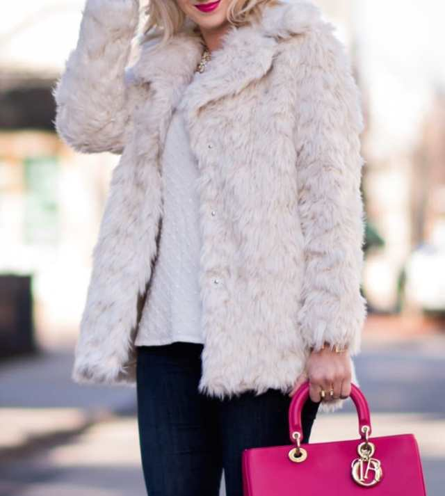 topshop faux fur coat