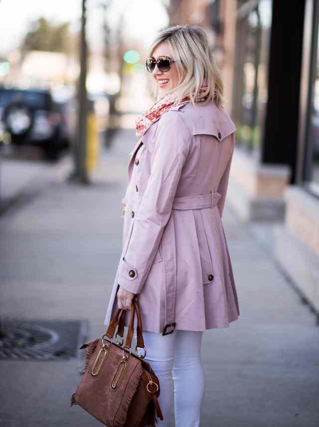 asos pink trench coat