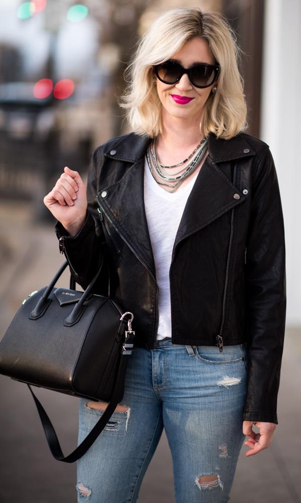 blank nyc faux leather jacket black