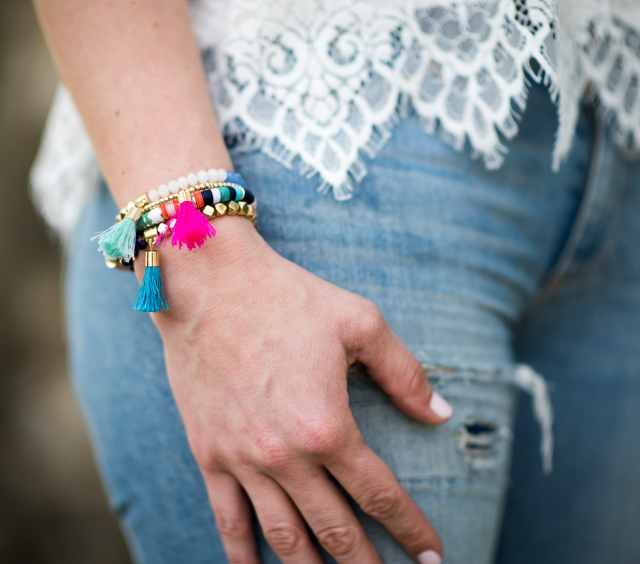 Baublebar bracelet Cupcakes and Cashmere white lace