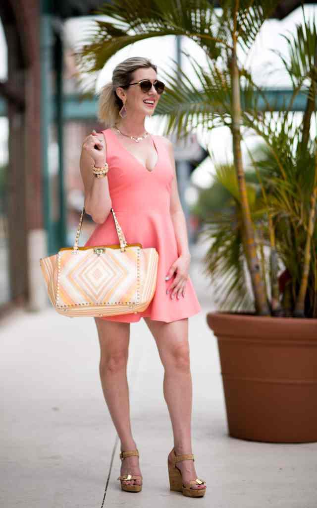 spring coral dress