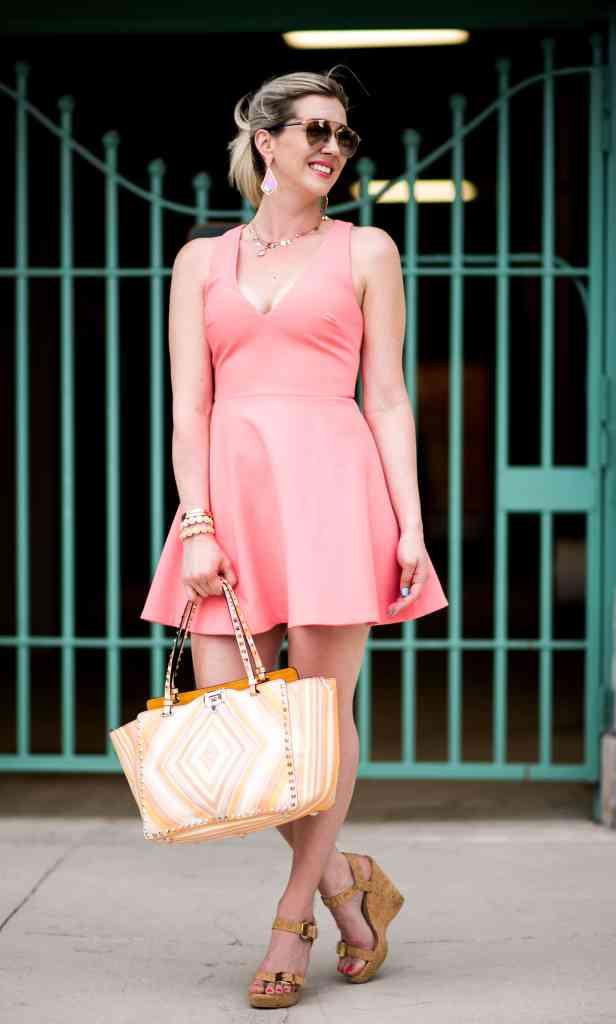elizabeth & james fit & flare dress
