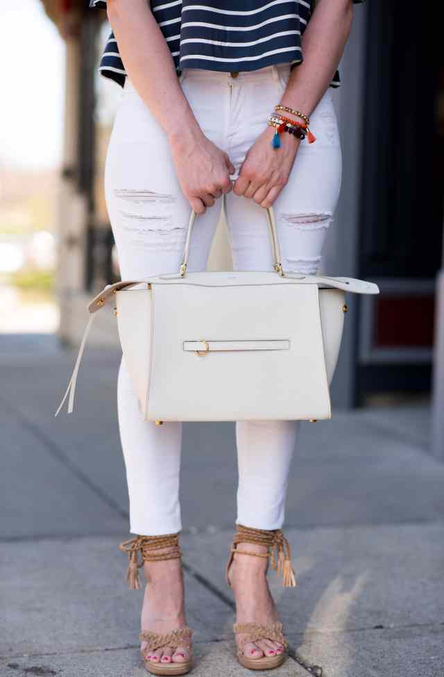 celine ring bag white