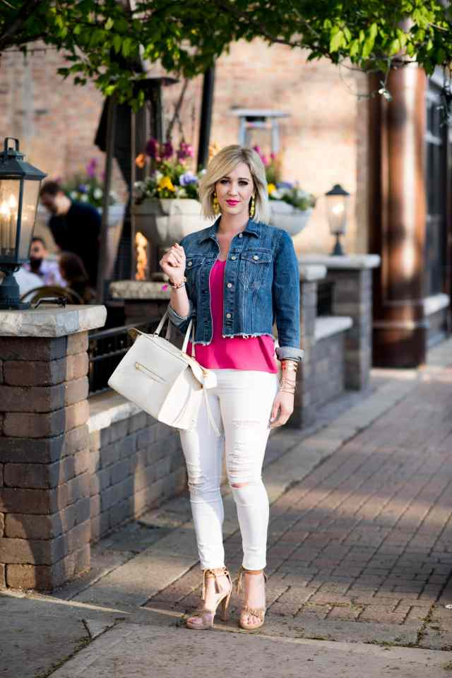 topshop double strap V-back camisole, pink