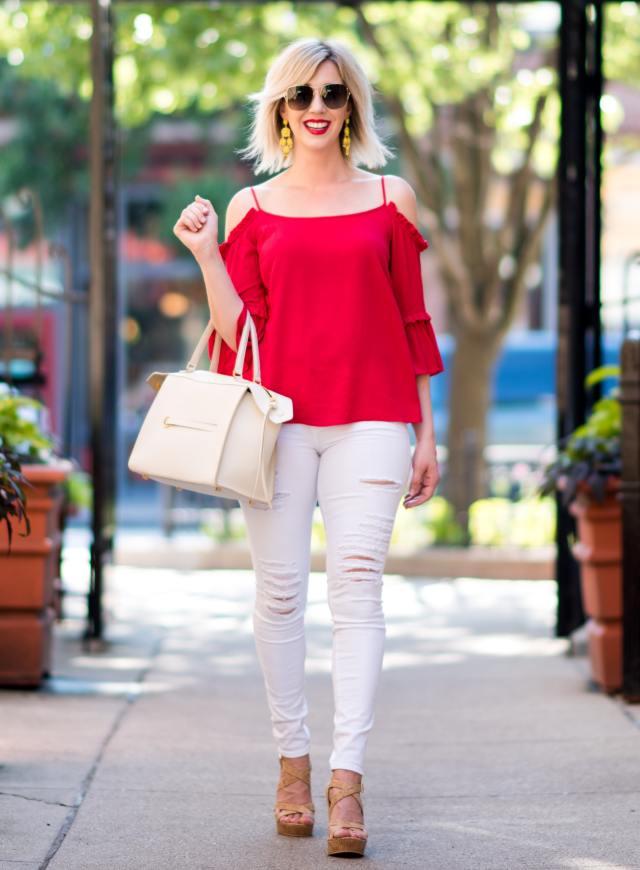 Frame 'Le Color Rip' Skinny Jeans
