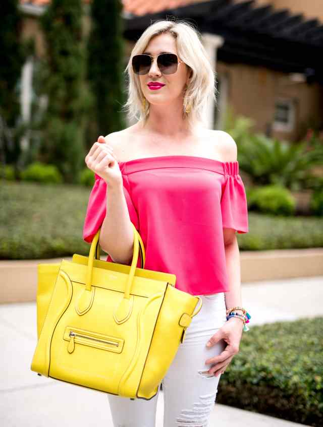 celine mini luggage yellow