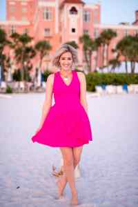 Adelyn Rae Asymmetrical Ruffle Fit & Flare Dress