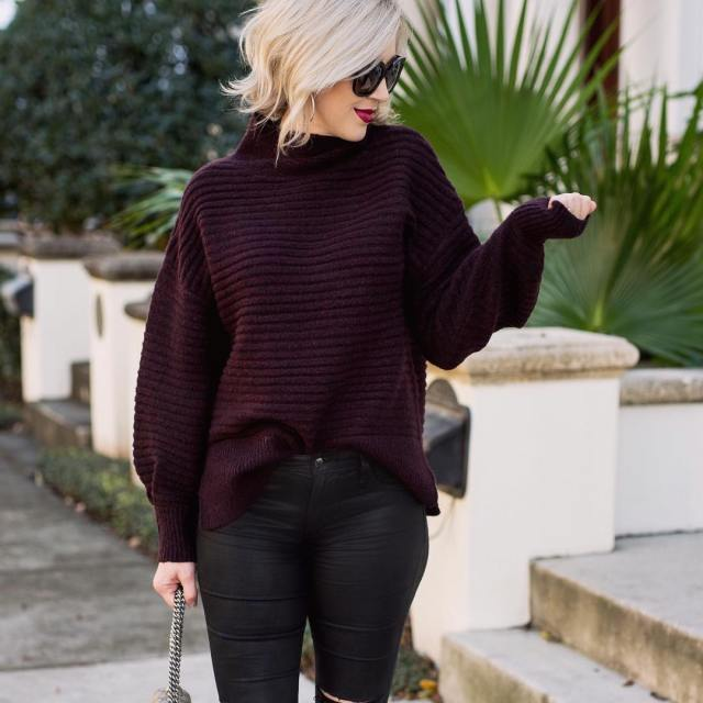 Cooler weather is for cozy oversized sweaters This one ishellip
