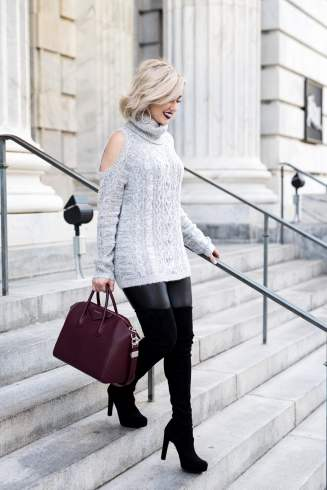 Cold Shoulder Sweater with a Sparkle