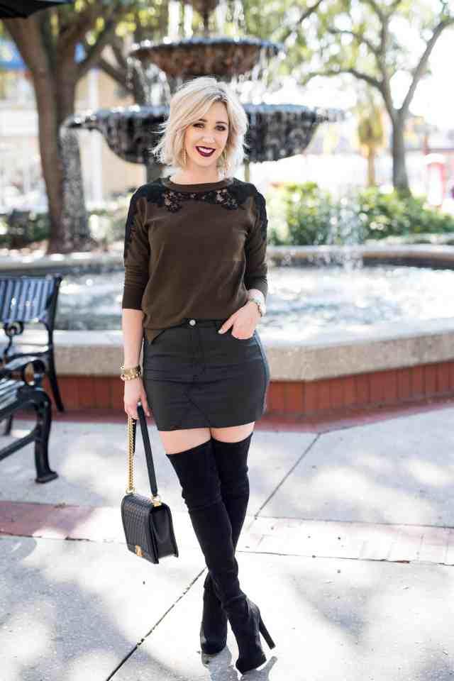 topshop lace trim sweater
