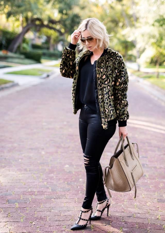 topshop Leopard Faux Fur Jacket