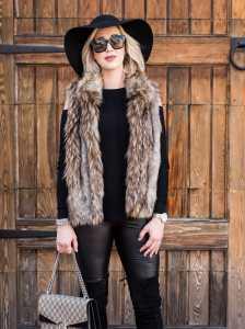 soft joie Narasha Faux Fur Vest