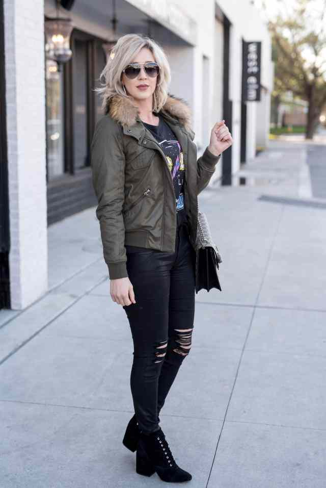 generation love Georgina Bomber Jacket army green