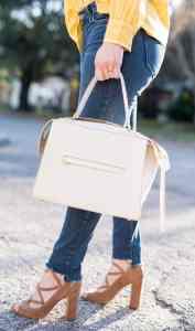 Celine ring bag white