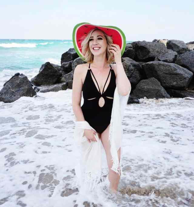COLLECTION XIIX watermelon floppy hat