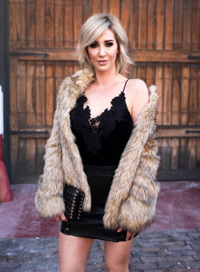 topshop Kendall faux fur coat