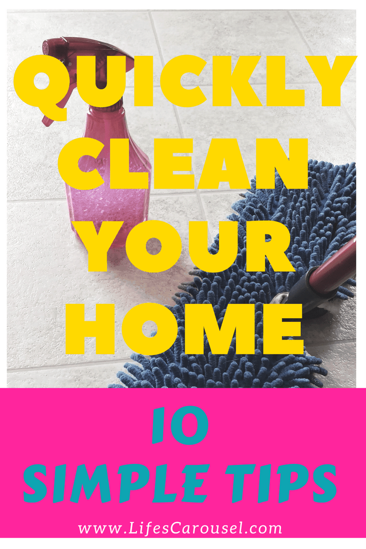 QUICK Cleaning Tips   Messy home? Use these cleaning tips to get your house cleaned FAST! Perfect for busy people (especially parents!).