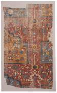 Tappeto a preghiera multipla Khorasan, Persia orientale XVII secolo, 173 × 104 cm, frammento, Galleria Moshe Tabibnia, Milano