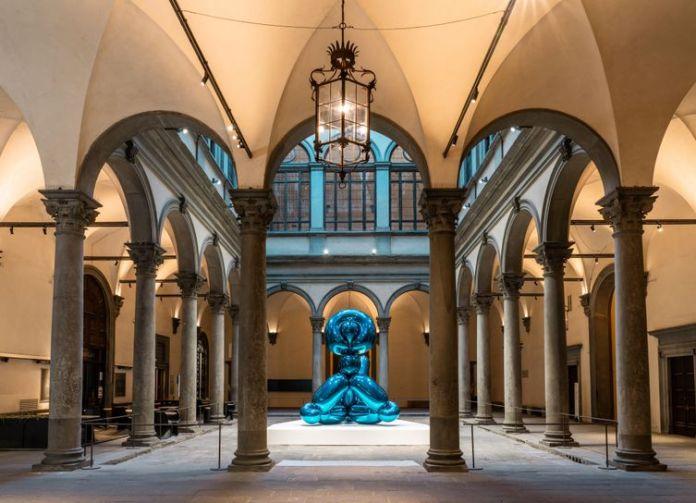 Jeff Koons shine palazzo strozzi firenze