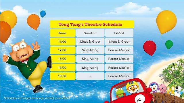 Pororo Park Singapore Theatre Show Times