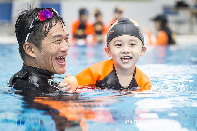 Kids Swim Class At The Swimming Room