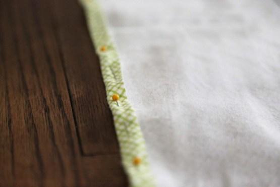 pinned napkins