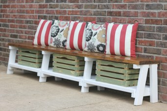 How to Make a DIY Farmhouse Bench With Storage