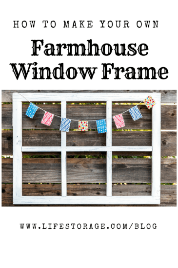 How to Build a DIY Window Frame - Farmhouse Style Decor, Vintage, Rustic - pin
