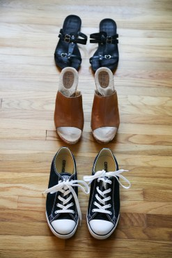 shoes - how to pack for europe in a carry on