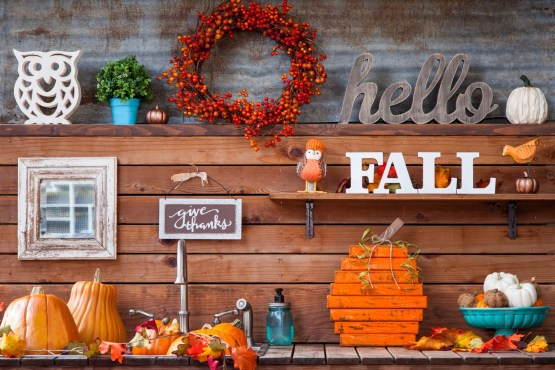 Scrap wood pumpkin DIY to save money on fall decor