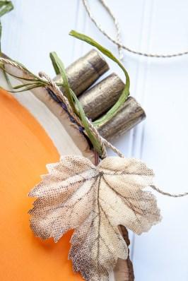 Outdoor Fall Decorating Ideas - green twine diy