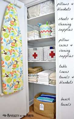 hall closet organization ideas and hall closet storage ideas - shelf dividers