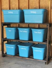 How to Build DIY Garage Storage Shelves for Under $60