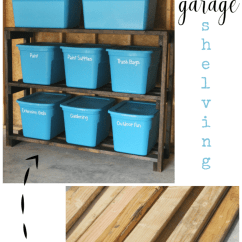 Diy Kitchen Bench With Storage Black Cabinet Pulls How To Build Garage Shelves For Under $60
