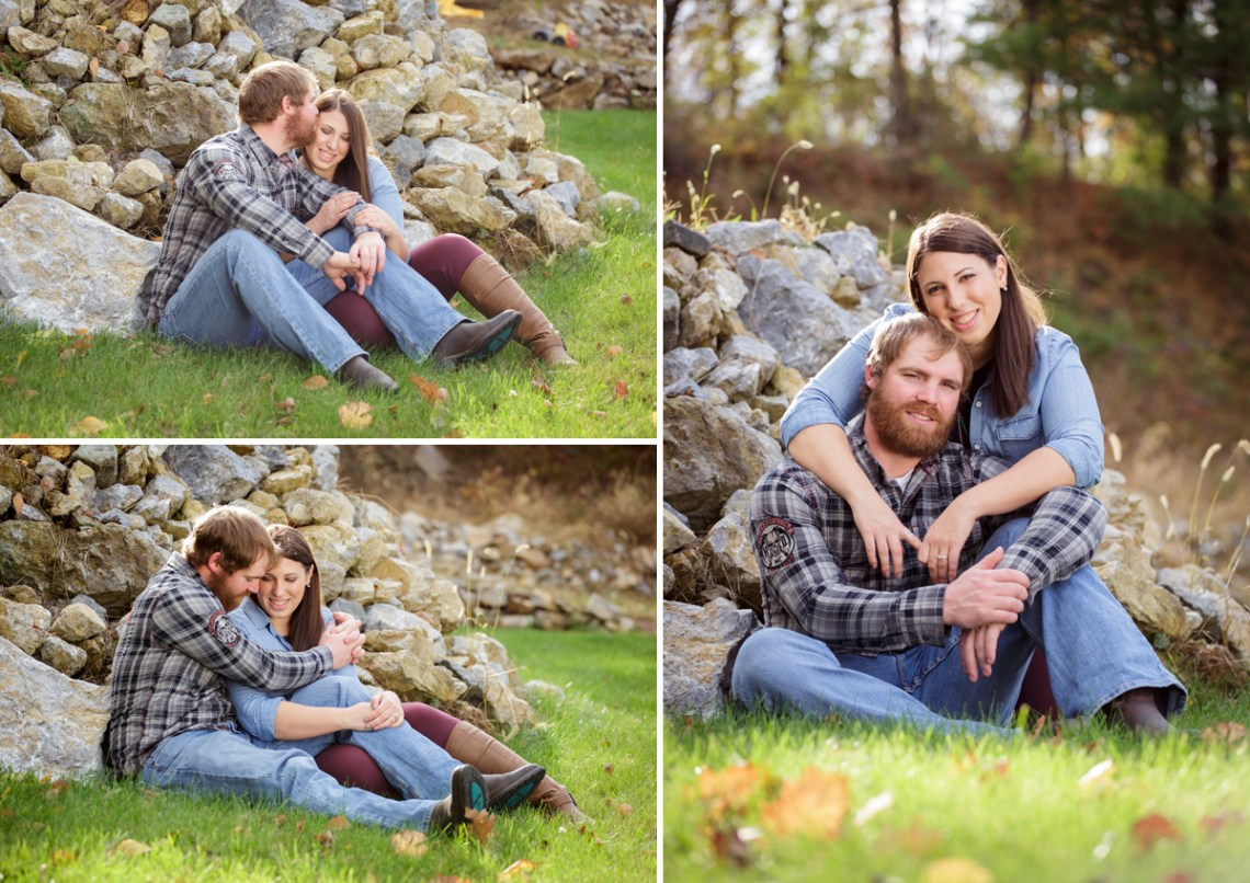 Engagement Photos Field Woods Motorcycle Berks County PA