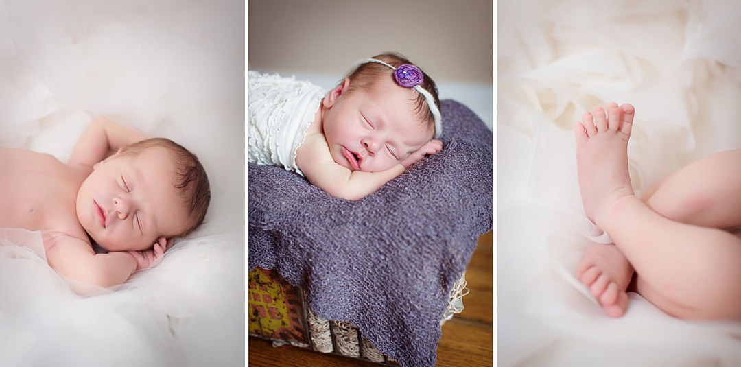 Newborn Photo with Wedding Dress Reading PA