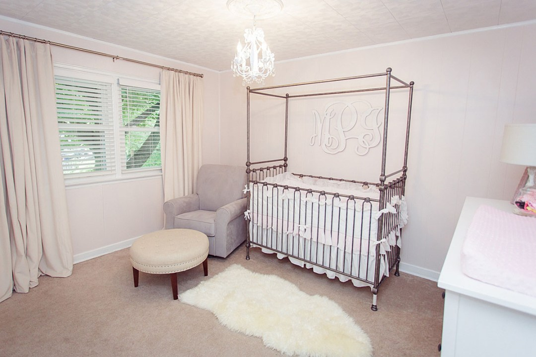 Pink and Gray Newborn Nursery Reading PA