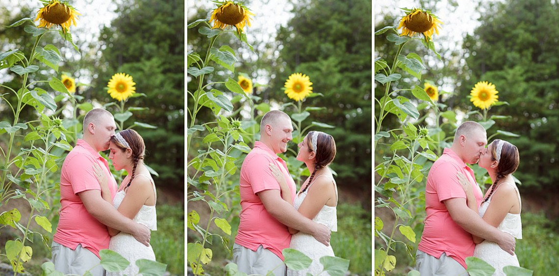 Engagement Pics Reading PA Sunflowers