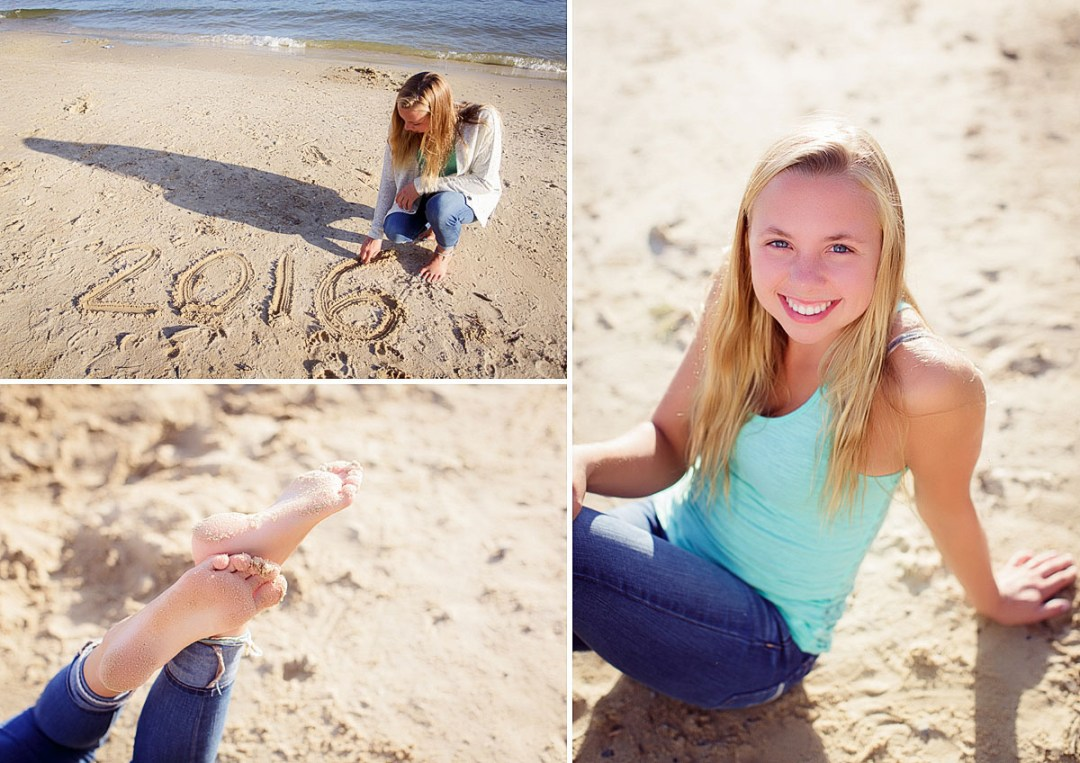 senior photos on the beach