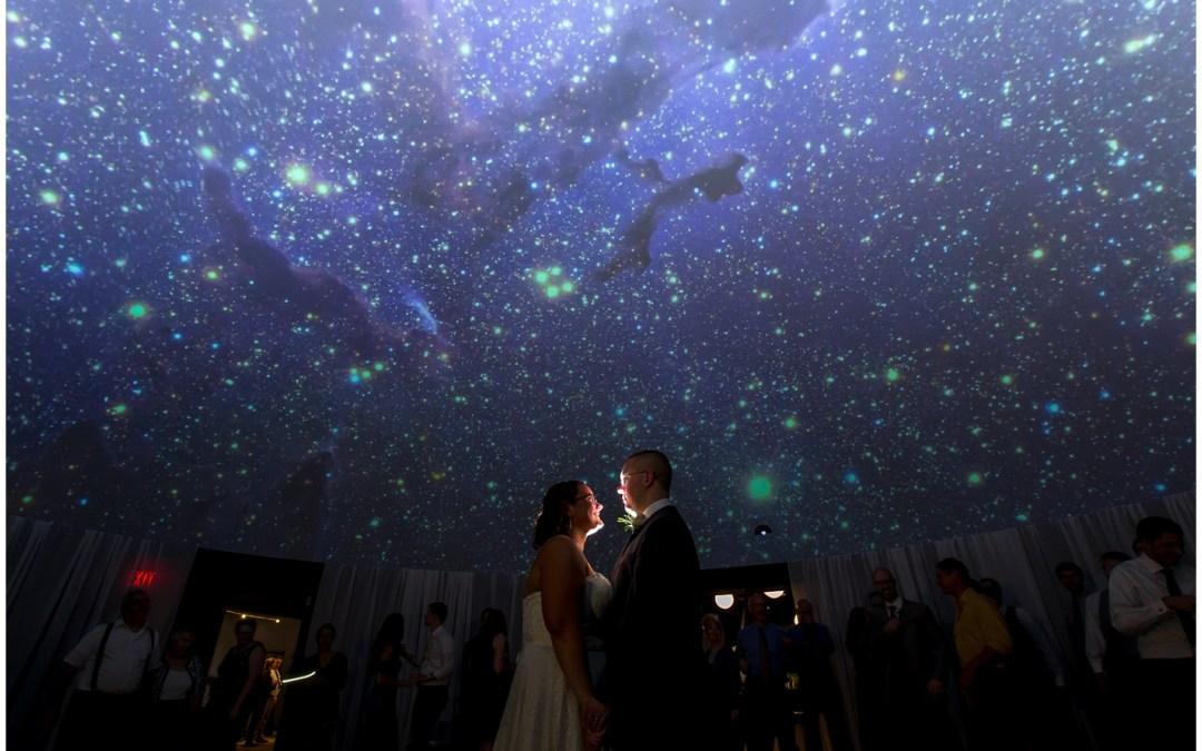 WEDDING VENUE IN READING, PA   THE NEAG PLANETARIUM   CAROL+ BLAKE