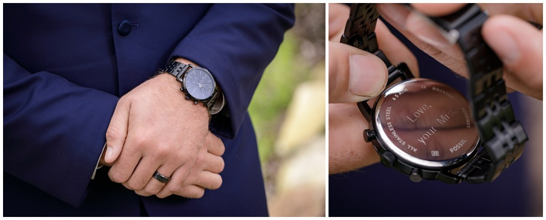 groom gift from bride engraved watch