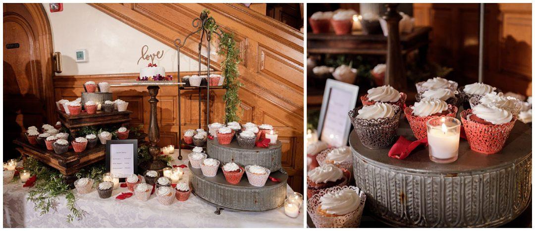 cupcake wedding display for cake cutting