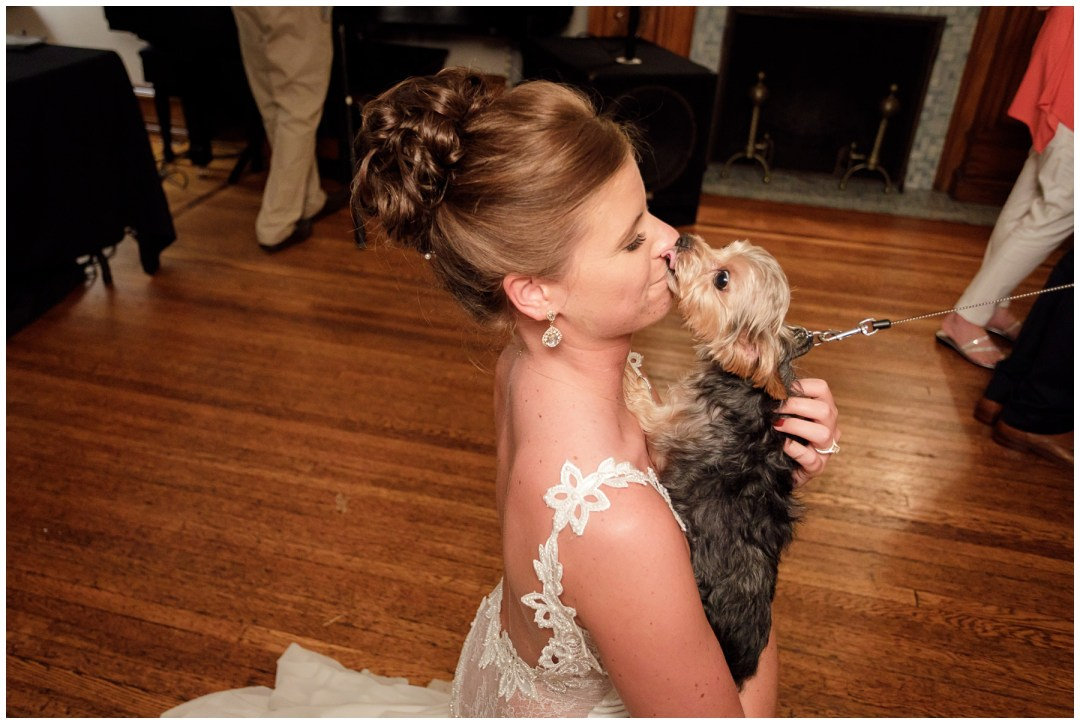 dance floor in stirling guest hotel puppy and bride